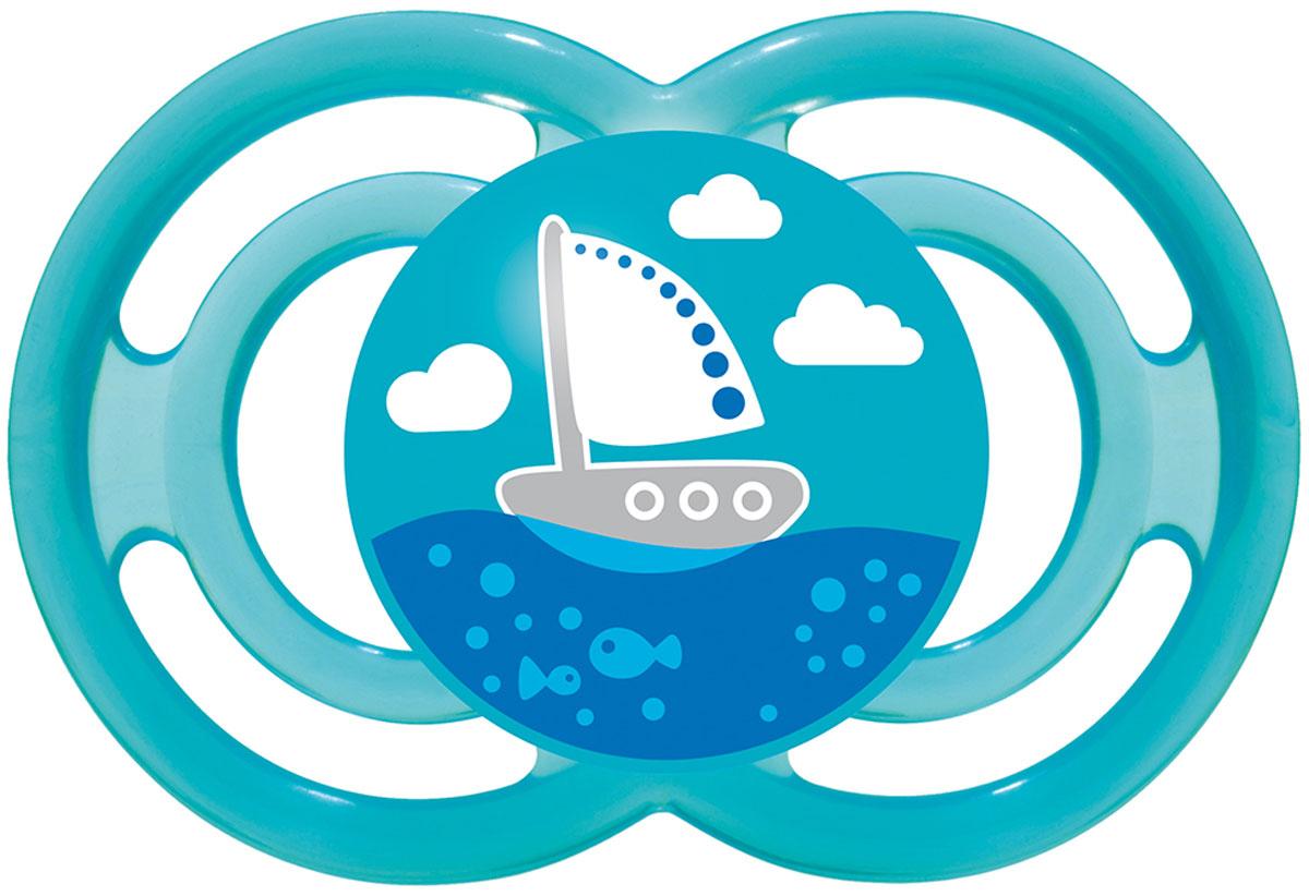 МАМ Пустышка Perfect Кораблик цвет голубой от 6 месяцев