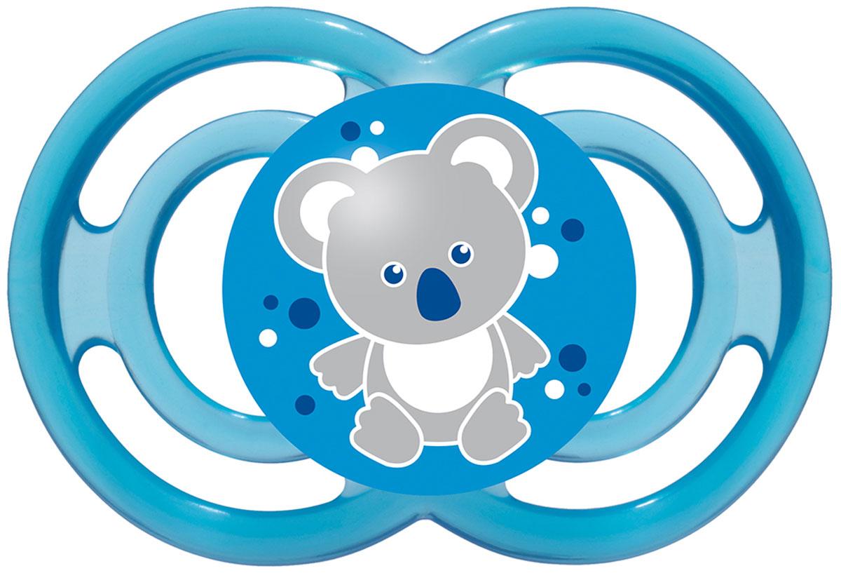 МАМ Пустышка Perfect Мишка цвет синий от 6 месяцев