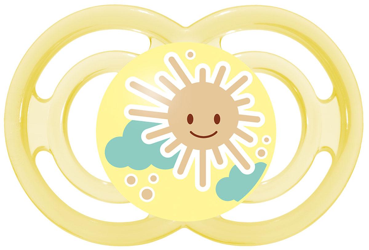 МАМ Пустышка Perfect Солнышко цвет желтый от 6 месяцев