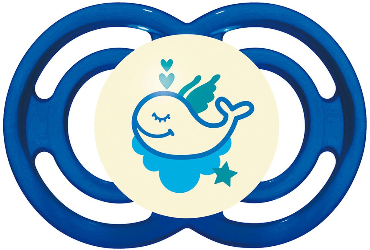 МАМ Пустышка Perfect Night Кит цвет синий от 6 месяцев