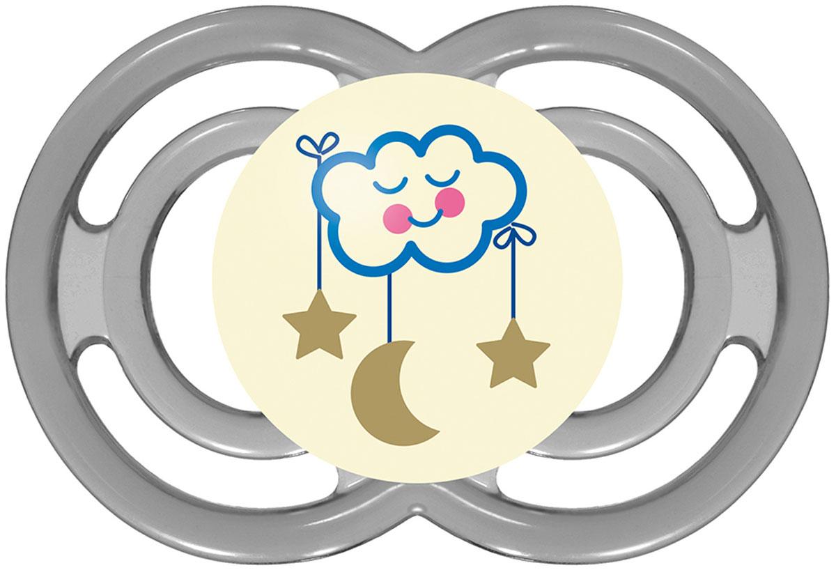 МАМ Пустышка Perfect Night Облако цвет серый от 6 месяцев