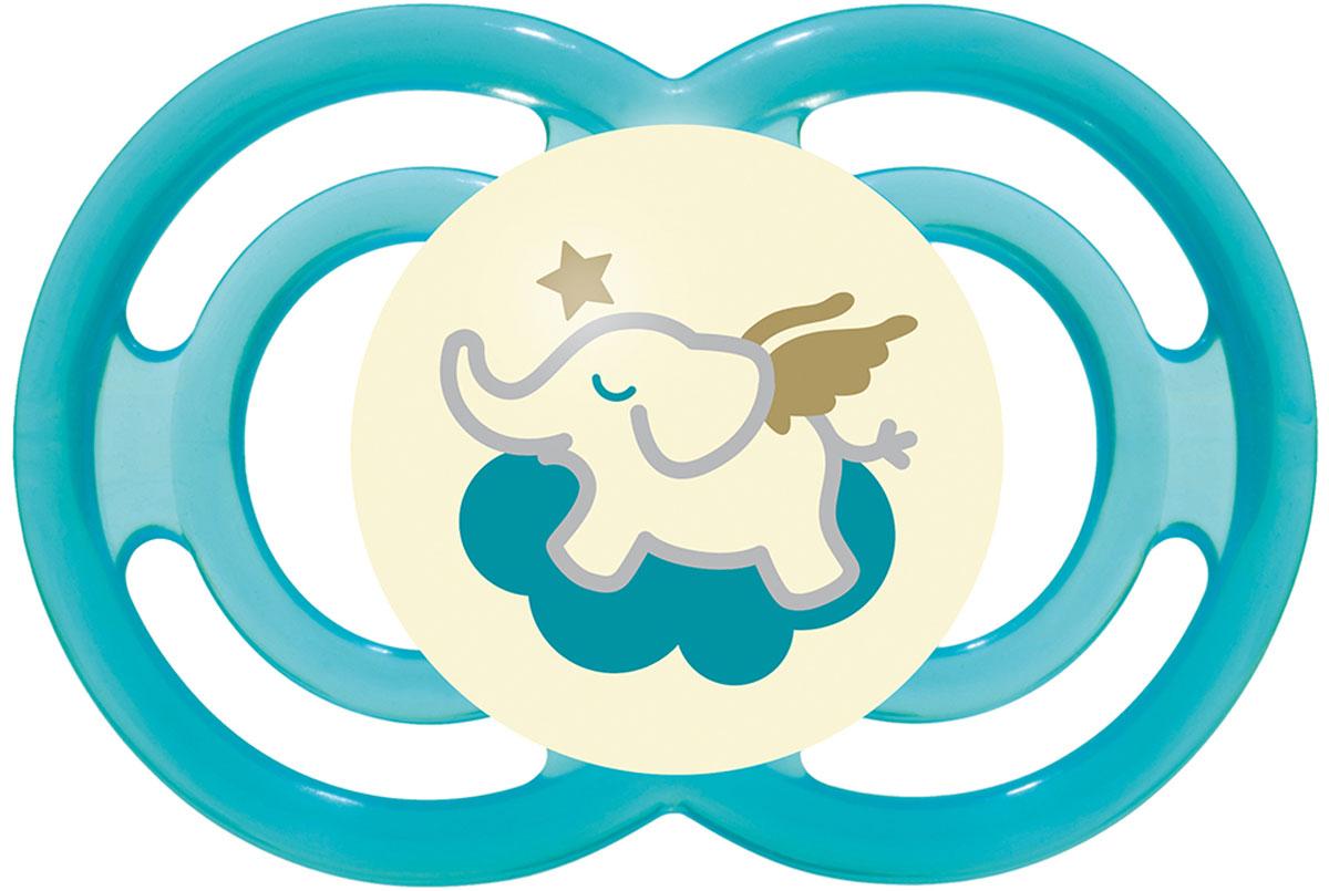 МАМ Пустышка Perfect Night Слоненок цвет голубой от 6 месяцев