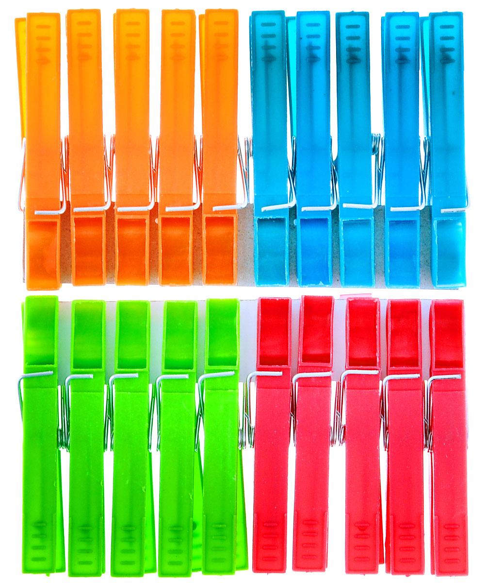 Прищепки York Classic, 20 шт9601Прищепки York Classic, изготовленные из пластика, станут незаменимым аксессуаром для любой хозяйки. Изделия выполнены в четырех цветах: зеленом, салатовом, красном и оранжевом. В наборе - 20 прищепок. Длина прищепки: 7,2 см.