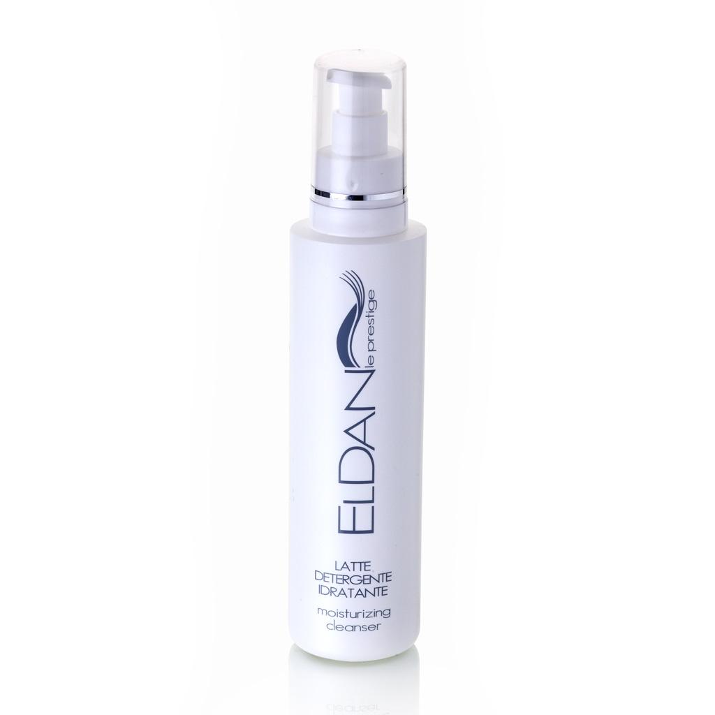 ELDAN cosmetics Очищающее увлажняющее молочко для лица Le Prestige , 250 млELD-01Средство для демакияжа и очищения нормальной, комбинированной и сухой кожи. Бережно устраняет загрязнения, готовит кожу лица к последующим этапам ухода. Увлажняет, смягчает, снимает раздражение и шелушение, глубоко очищает, не повреждая липидный слой, оставляет ощущение чистоты и свежести.