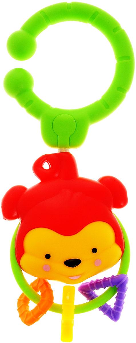 Simba Погремушка-подвеска Обезьянка4011070_обезьянкаПогремушка-подвеска Simba Обезьянка поможет создать атмосферу уюта и спокойствия в детской комнате. Она выполнена из безопасных текстильных материалов в виде милой мордочки обезьянки с подвешенными к ней геометрическими элементами. Приятное звучание погремушки привлекает внимание малыша, развивает слуховое и пространственное восприятие. Яркие контрастные цвета развивают зрительное восприятие. Погремушка крепится к кроватке или коляске при помощи пластикового кольца.