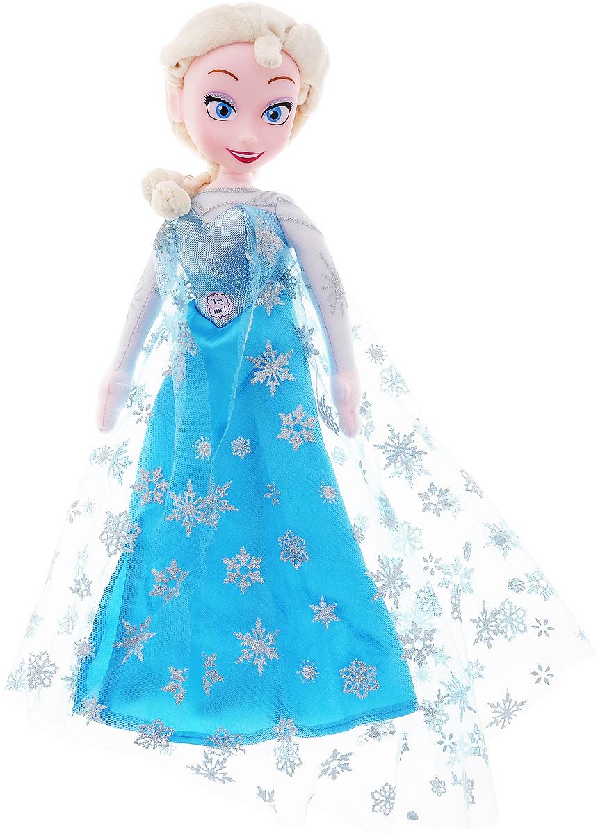 Disney Кукла Singing Elsa12960Мягкая озвученная кукла Disney Singing Elsa приведет в восторг любую маленькую поклонницу знаменитого мультфильма Холодное сердце. Кукла выполнена из высококачественного текстильного материала, голова - из прочного безопасного пластика. Принцесса Эльза одета в свой классический наряд из мультфильма - на ней длинное голубое платье, дополненное кружевным плащом, а на ногах - небольшие туфельки. Одежда не снимается. При нажатии на животик игрушки, она споет песню Let it go из мультфильма. Оригинальная мягкая кукла непременно поднимет настроение своей обладательнице и станет ее лучшей подружкой. Игры с куклами развивают творческое мышление и воображение, а также способствуют эмоциональному развитию и формированию ответственности. Рекомендуется докупить 3 батарейки напряжением 1,5V типа LR41/AG3 (товар комплектуется демонстрационными).