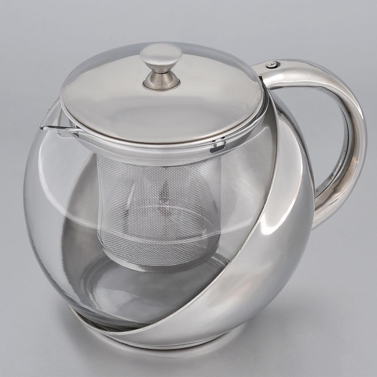 Чайник заварочный Bohmann, с фильтром, 900 мл9623BHИзящный и современный чайник Bohmann изготовлен из высококачественной нержавеющей стали и жаропрочного стекла. Съемный фильтр из стали позволит быстро и легко очистить чайник. Может быть использован для подачи как горячих, так и холодных напитков. Простой и удобный чайник Bohmann послужит великолепным подарком для любителей чая. Можно мыть в посудомоечной машине. Диаметр чайника (по верхнему краю): 8,5 см. Высота чайника (без учета крышки): 12 см. Высота фильтра: 7,5 см.
