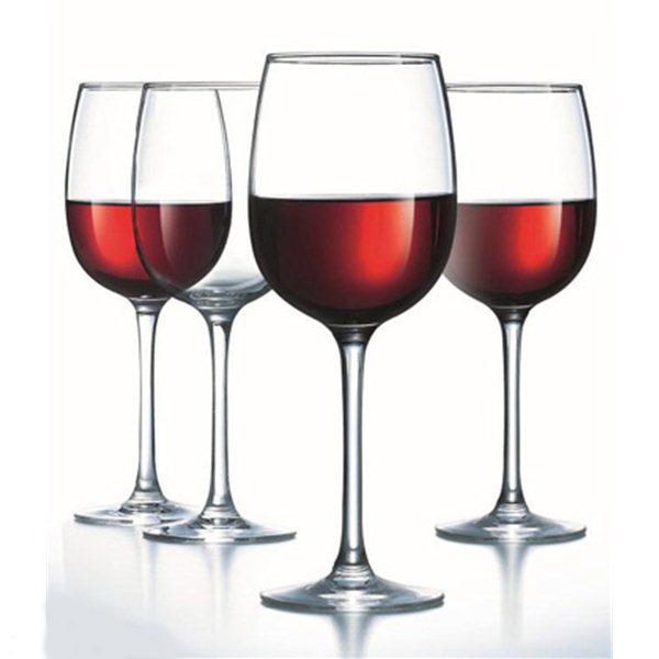 Набор бокалов для вина Luminarc Allegresse, 420 мл, 4 штJ8166Набор Luminarc Allegresse состоит из 4 бокалов на тонких высоких ножках, выполненных из высококачественного стекла. Изделия имеют стильный дизайн, изящную форму и ослепительный блеск. Специально предназначены для красного вина. Разработанная экспертами коллекция бокалов элегантной классической формы раскрывает наилучшим образом аромат вина. Этот величественный бокал идеально подходит для наслаждения различными сортами красных вин. Такой набор станет прекрасным дополнением сервировки стола, идеально подойдет для торжественных случаев или романтического ужина. Можно мыть в посудомоечной машине. Диаметр бокала (по верхнему краю): 7 см. Диаметр основания: 8 см. Высота бокала: 22 см.