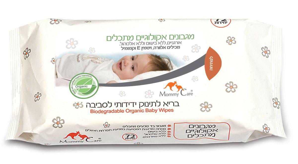 Mommy Care Органические детские влажные салфетки 72 шт