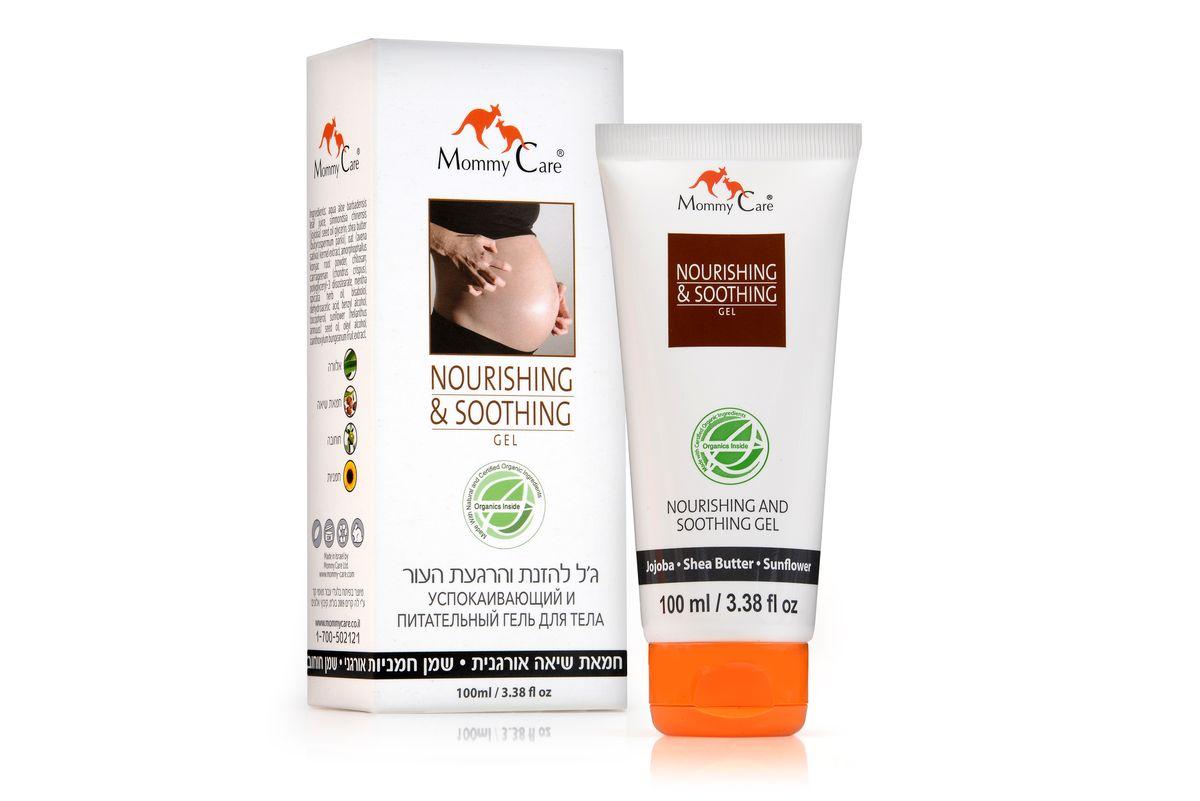 Mommy Care Питательный и успокаивающий гель для тела 100 мл2676Во время беременности кожа в области живота и бедер подвергается сильному натяжению, вызывающему сухость, раздражение и зуд. Специальный успокаивающий и питательный гель Mommy Care, изготовленный из натуральных и органических ингредиентов, действует мгновенно, освежая и успокаивая раздраженную кожу и снимая зуд. Экстракт овса и масло ши питают, масло жожоба и гель алоэ смягчают и успокаивают, а мята освежает и охлаждает.
