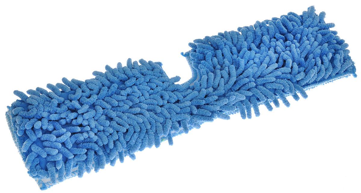 Насадка для двухсторонней швабры Home Queen Еврокласс, цвет: голубой, длина 40 см57983_голубойСменная насадка для двухсторонней швабры Home Queen Еврокласс изготовлена из шенилла, разновидности микрофибры. Материал обладает высокой износостойкостью, не царапает поверхности и отлично впитывает влагу. Насадка отлично удаляет большинство жирных и маслянистых загрязнений без использования химических веществ. Насадка идеально подходит для мытья всех типов напольных покрытий. Она не оставляет разводов и ворсинок. Сменная насадка для швабры Home Queen Еврокласс станет незаменимой в хозяйстве. Стирать вручную без использования кондиционера и отбеливателя, при температуре 60-90°С.