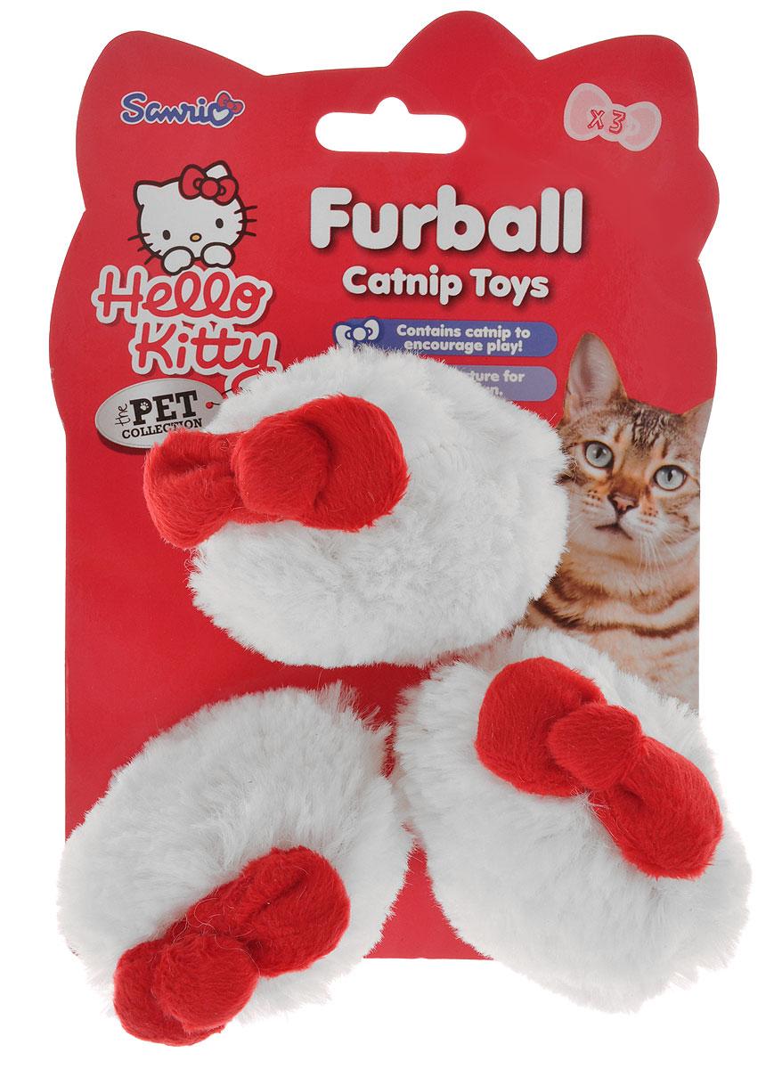Игрушка для кошек Hello Kitty Меховой мячик, диаметр 6 см, 3 шт6009аИгрушка для кошек Hello Kitty Меховой мячик обязательно понравится вашему питомцу. Игрушка выполнена из мехового текстиля, украшена красным бантиком. Шарики наполнены кошачьей мятой, для привлечения внимания кошки. В наборе - 3 меховых мячика, которые обязательно придутся по душе вашей пушистой любимице.