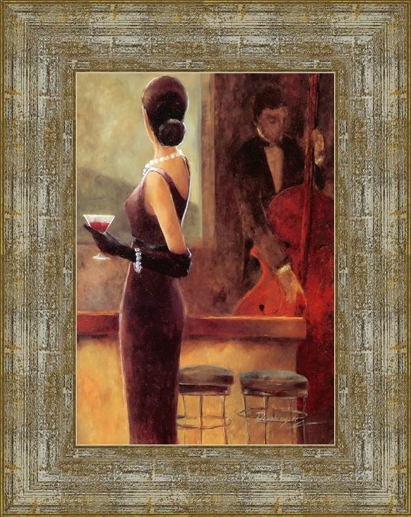 Мартини Джаз (Dominguez)17x22 D3314-414095Художественная репродукция картины Dominguez «Martini Jazz». Размер постера: 17 см х 22 см. Артикул: 17x22 D3314-414095.