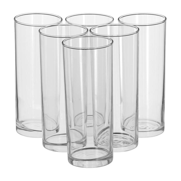 Набор стаканов Luminarc Geo, 350 мл, 6 штJ2888Набор Luminarc Geo состоит из 6 высоких стаканов, выполненных из высококачественного стекла. Изделия имеют стильный дизайн, изящную форму и ослепительный блеск. Подходят для сока, воды, лимонада и других напитков. Такой набор станет прекрасным дополнением сервировки стола, подойдет для ежедневного использования и для торжественных случаев. Можно мыть в посудомоечной машине. Диаметр стакана (по верхнему краю): 6,5 см. Высота стакана: 15,5 см.