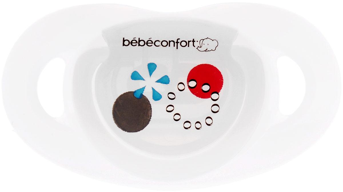 Bebe Confort Пустышка Safe от 12 до 36 месяцев размер Т2 цвет белый 2 шт
