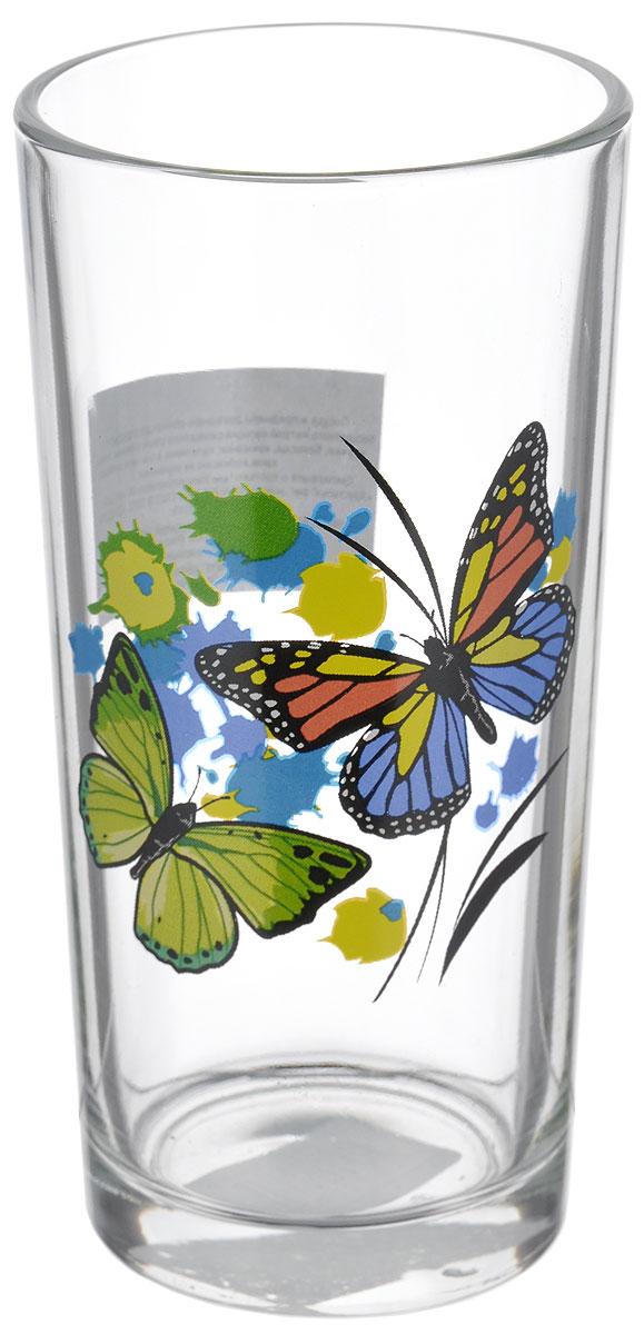 Стакан OSZ Танец бабочек, 230мл. 05с125605с1256 ДЗ ТБ миксСтакан OSZ Танец бабочек состоит из прозрачного стекла. Изделие оформлено изображением бабочек. Стакан не только украсит ваш кухонный стол и подчеркнет прекрасный вкус хозяйки. Диаметр стакана (по верхнему краю): 6 см. Диаметр основания: 5 см. Высота стакана: 13 см.
