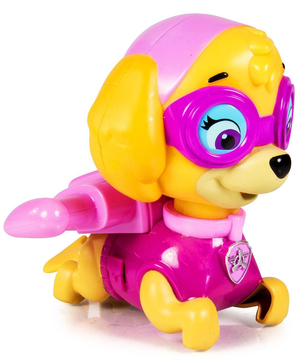 Paw Patrol Игрушка для ванной заводная Skye16631_розовыйPaw Patrol Заводная игрушка для ванной Skye понравится вашему ребенку и развлечет его во время купания. Она выполнена из безопасного материала в виде героя мультсериала Щенячий патруль. На спине игрушки есть ключик, с помощью которого можно завести механизм игрушки. Опустите игрушку в воду, и она будет плыть, забавно вращая хвостиком. Игрушка для ванной способствует развитию воображения, цветового восприятия, тактильных ощущений и мелкой моторики рук.