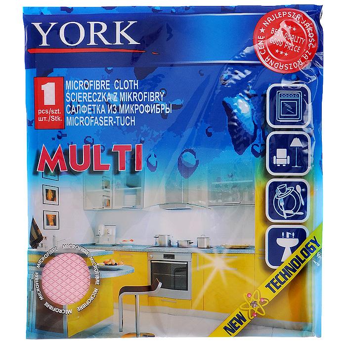 Салфетка универсальная York Multi, цвет: светло-розовый, 30 см х 30 см2616Универсальная салфетка York Multi предназначена для очистки любых поверхностей на кухне: посуды, раковин, кафеля, газовых и электрических плит. Салфетка выполнена из микрофибры. Отличается высокой прочностью и хорошо поглощает влагу. Может использоваться в сухом и влажном виде.