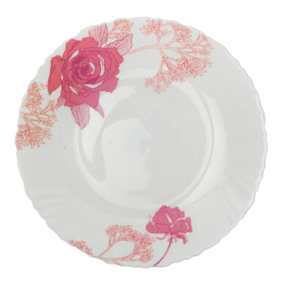 Тарелка десертная Chinbull Ля Руж, диаметр 19 смOLHP-75/309-2Тарелка десертная Chinbull Ля Руж выполнена из высококачественной стеклокерамики и декорирована ярким изображением цветов. Она прекрасно впишется в интерьер вашей кухни и станет достойным дополнением к кухонному инвентарю. Тарелка Chinbull подчеркнет прекрасный вкус хозяйки, но и станет отличным подарком. Не рекомендуется использовать в микроволновой печи. Диаметр (по верхнему краю): 19 см. Высота стенки: 2 см.