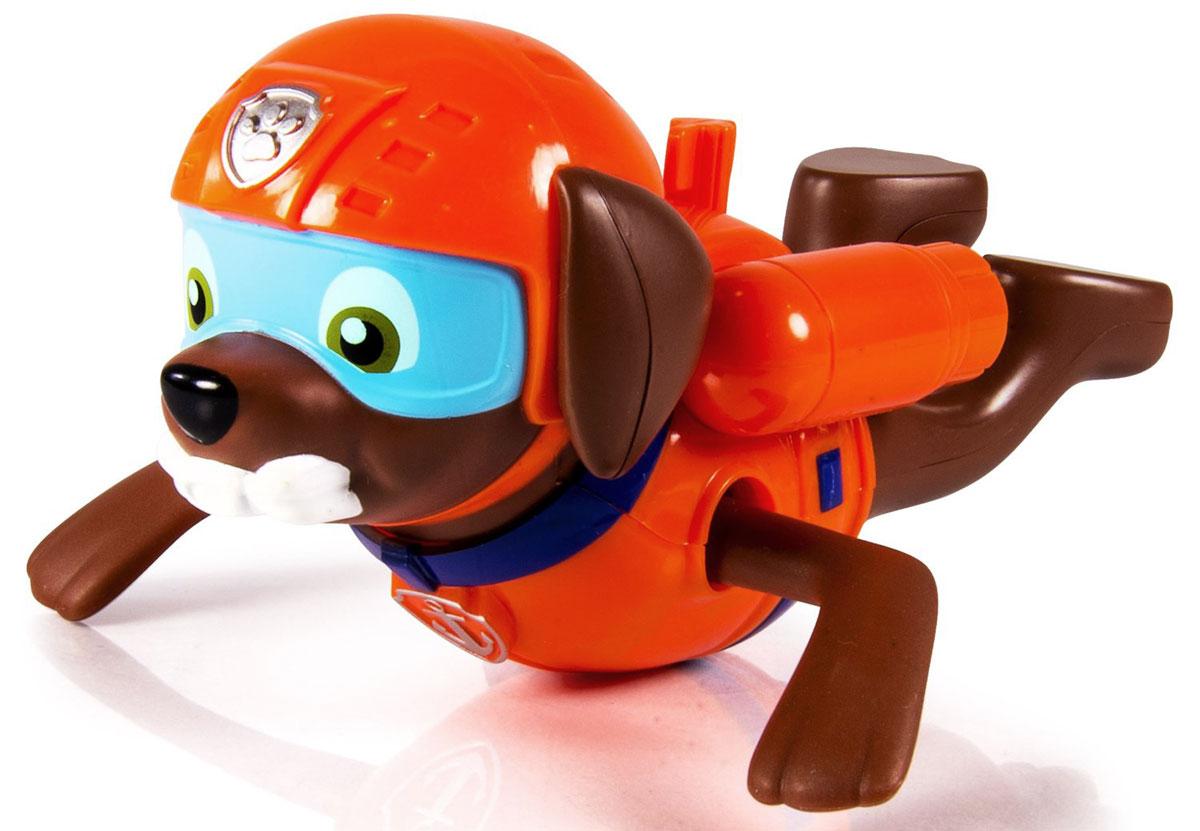 Paw Patrol Игрушка для ванной заводная Zuma16631_коричневы, оранжевыйЗаводная игрушка для ванной Paw Patrol Zuma понравится вашему ребенку и развлечет его во время купания. Она выполнена из безопасного материала в виде героя мультсериала Щенячий патруль. На спине игрушки есть ключик, с помощью которого можно завести механизм игрушки. Опустите игрушку в воду, и она будет плыть, забавно гребя лапками. Игрушка для ванной способствует развитию воображения, цветового восприятия, тактильных ощущений и мелкой моторики рук.