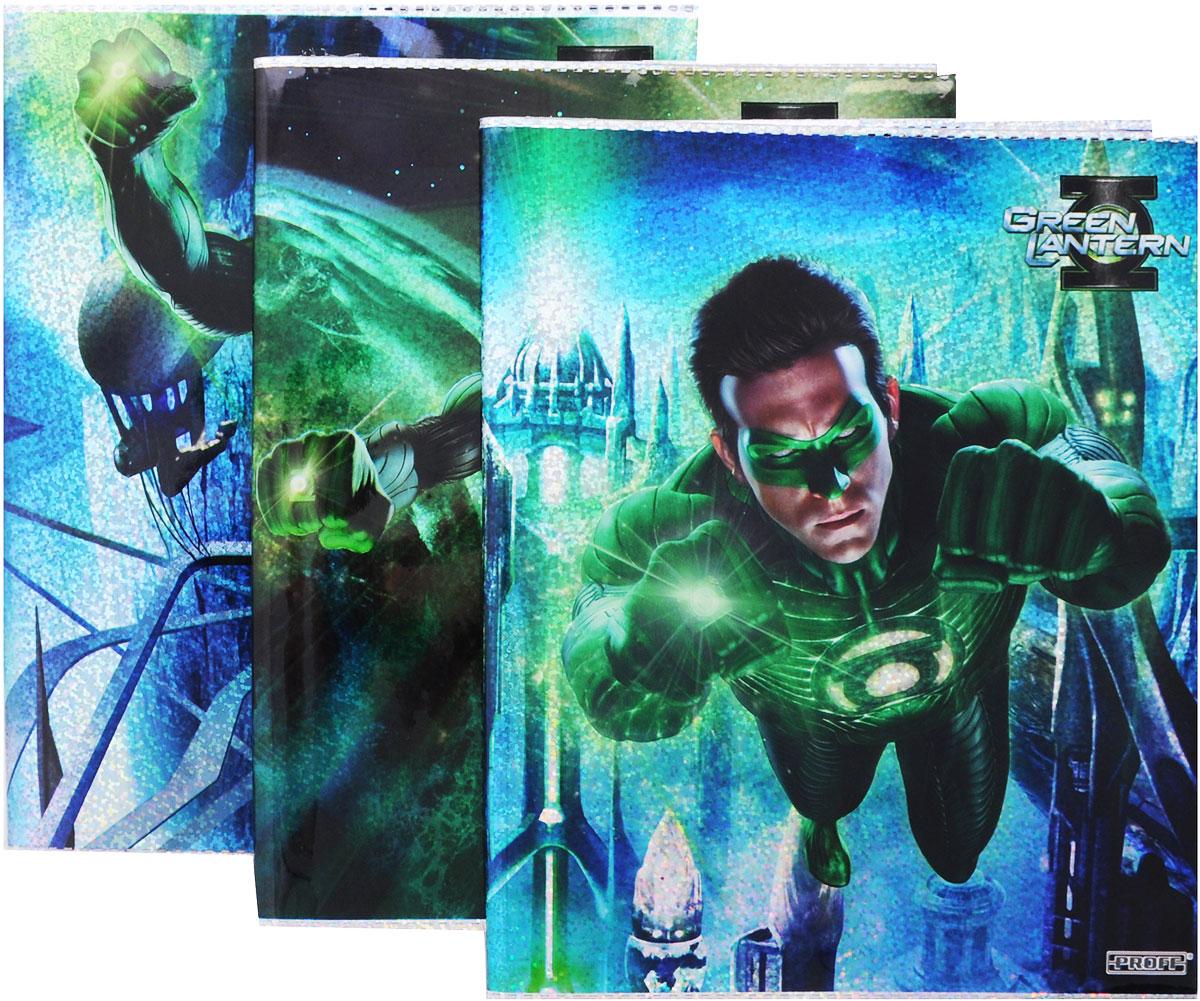 Proff Набор обложек для тетрадей и дневников Green Lantern 3 шт BSL_ROZ_Green Lantern