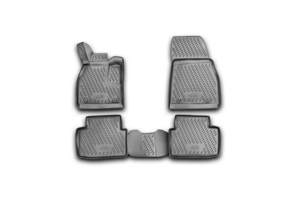 Набор автомобильных 3D-ковриков Novline-Autofamily для Chevrolet Malibu, 2012->, в салон, 4 штCARCHV00023Набор Novline-Autofamily состоит из 4 ковриков, изготовленных из полиуретана. Основная функция ковров - защита салона автомобиля от загрязнения и влаги. Это достигается за счет высоких бортов, перемычки на тоннель заднего ряда сидений, элементов формы и текстуры, свойств материала, а также запатентованной технологией 3D-перемычки в зоне отдыха ноги водителя, что обеспечивает дополнительную защиту, сохраняя салон автомобиля в первозданном виде. Материал, из которого сделаны коврики, обладает антискользящими свойствами. Для фиксации ковров в салоне автомобиля в комплекте с ними используются специальные крепежи. Форма передней части водительского ковра, уходящая под педаль акселератора, исключает нештатное заедание педалей. Набор подходит для Chevrolet Malibu с 2012 года выпуска.