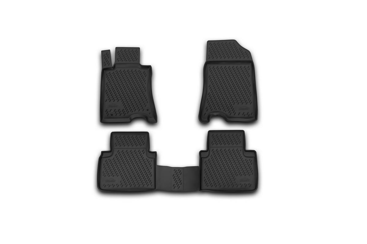 Набор автомобильных ковриков Novline-Autofamily для Honda Crosstour 2wd 01/2013-, в салон, 4 штCARHND00001Набор автомобильных ковриков Novline-Autofamily, изготовленный из полиуретана, состоит из 4 ковриков, которые учитывают все особенности каждой модели автомобиля и полностью повторяют контуры пола. Полиуретановые автомобильные коврики для салона произведены из высококачественного материала, который держит форму, прочный и не пачкает обувь. Коврики в салон не только улучшат внешний вид салона вашего автомобиля, но и надежно уберегут его от пыли, грязи и сырости, а значит, защитят кузов от коррозии. Полиуретановые коврики для автомобиля гладкие, приятные и не пропускают влагу. Ковры для автомобилей надежно крепятся на полу и не скользят, что очень важно во время движения. Чистятся коврики очень просто: как при помощи автомобильного пылесоса, так и различными моющими средствами. Набор подходит для Honda Crosstour 2wd с января 2013 года выпуска.