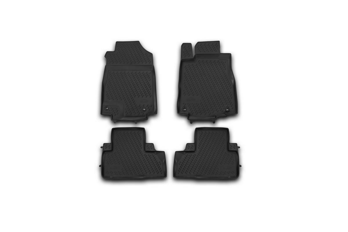 Набор автомобильных ковриков Novline-Autofamily для Honda CR-V 2012-2015, 2015-, в салон, цвет: черный, 4 штCARHND00013Набор автомобильных ковриков Novline-Autofamily, изготовленный из полиуретана, состоит из 4 ковриков, которые учитывают все особенности каждой модели автомобиля и полностью повторяют контуры пола. Полиуретановые автомобильные коврики для салона произведены из высококачественного материала, который держит форму, прочный и не пачкает обувь. Коврики в салон не только улучшат внешний вид салона вашего автомобиля, но и надежно уберегут его от пыли, грязи и сырости, а значит, защитят кузов от коррозии. Полиуретановые коврики для автомобиля гладкие, приятные и не пропускают влагу. Ковры для автомобилей надежно крепятся на полу и не скользят, что очень важно во время движения. Чистятся коврики очень просто: как при помощи автомобильного пылесоса, так и различными моющими средствами. Набор подходит для Honda CR-V 2012-2015, 2015 и позднее годов выпуска.