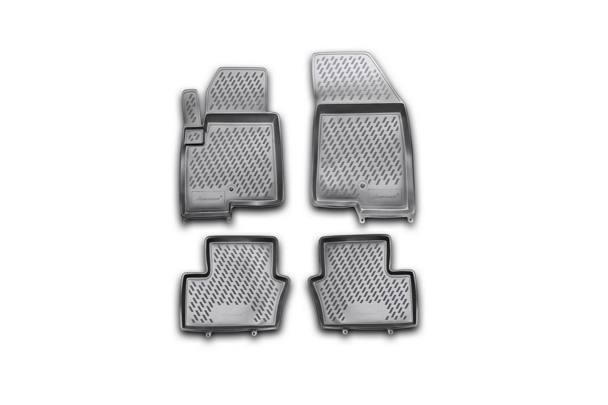Набор автомобильных ковриков Novline-Autofamily для Jeep Compass New 2011-, в салон, 4 штCARJEP00003hНабор автомобильных ковриков Novline-Autofamily, изготовленный из полиуретана, состоит из 4 ковриков, которые учитывают все особенности каждой модели автомобиля и полностью повторяют контуры пола. Полиуретановые автомобильные коврики для салона произведены из высококачественного материала, который держит форму, прочный и не пачкает обувь. Коврики в салон не только улучшат внешний вид салона вашего автомобиля, но и надежно уберегут его от пыли, грязи и сырости, а значит, защитят кузов от коррозии. Полиуретановые коврики для автомобиля гладкие, приятные и не пропускают влагу. Ковры для автомобилей надежно крепятся на полу и не скользят, что очень важно во время движения. Чистятся коврики очень просто: как при помощи автомобильного пылесоса, так и различными моющими средствами. Набор подходит для Jeep Compass New с 2011 года выпуска.