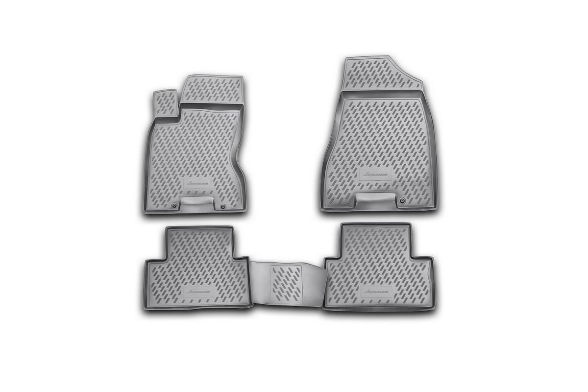 Набор автомобильных ковриков Novline-Autofamily для Nissan X-Trail (T31) 2007-2010, 2011-02/2015, в салон, 4 шт. CARNIS00031gCARNIS00031gНабор автомобильных ковриков Novline-Autofamily, изготовленный из полиуретана, состоит из 4 ковриков, которые учитывают все особенности каждой модели автомобиля и полностью повторяют контуры пола. Полиуретановые автомобильные коврики для салона произведены из высококачественного материала, который держит форму, прочный и не пачкает обувь. Коврики в салон не только улучшат внешний вид салона вашего автомобиля, но и надежно уберегут его от пыли, грязи и сырости, а значит, защитят кузов от коррозии. Полиуретановые коврики для автомобиля гладкие, приятные и не пропускают влагу. Ковры для автомобилей надежно крепятся на полу и не скользят, что очень важно во время движения. Чистятся коврики очень просто: как при помощи автомобильного пылесоса, так и различными моющими средствами. Набор подходит для Nissan X-Trail (T31) 2007-2010, 2011 - февраль 2015 годов выпуска.