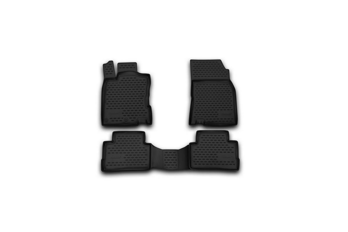 Набор автомобильных ковриков Novline-Autofamily для Nissan Qashqai 2014-, в салон, 4 штCARNIS00041Набор автомобильных ковриков Novline-Autofamily, изготовленный из полиуретана, состоит из 4 ковриков, которые учитывают все особенности каждой модели автомобиля и полностью повторяют контуры пола. Полиуретановые автомобильные коврики для салона произведены из высококачественного материала, который держит форму, прочный и не пачкает обувь. Коврики в салон не только улучшат внешний вид салона вашего автомобиля, но и надежно уберегут его от пыли, грязи и сырости, а значит, защитят кузов от коррозии. Полиуретановые коврики для автомобиля гладкие, приятные и не пропускают влагу. Ковры для автомобилей надежно крепятся на полу и не скользят, что очень важно во время движения. Чистятся коврики очень просто: как при помощи автомобильного пылесоса, так и различными моющими средствами. Набор подходит для Nissan Qashqai с 2014 года выпуска.