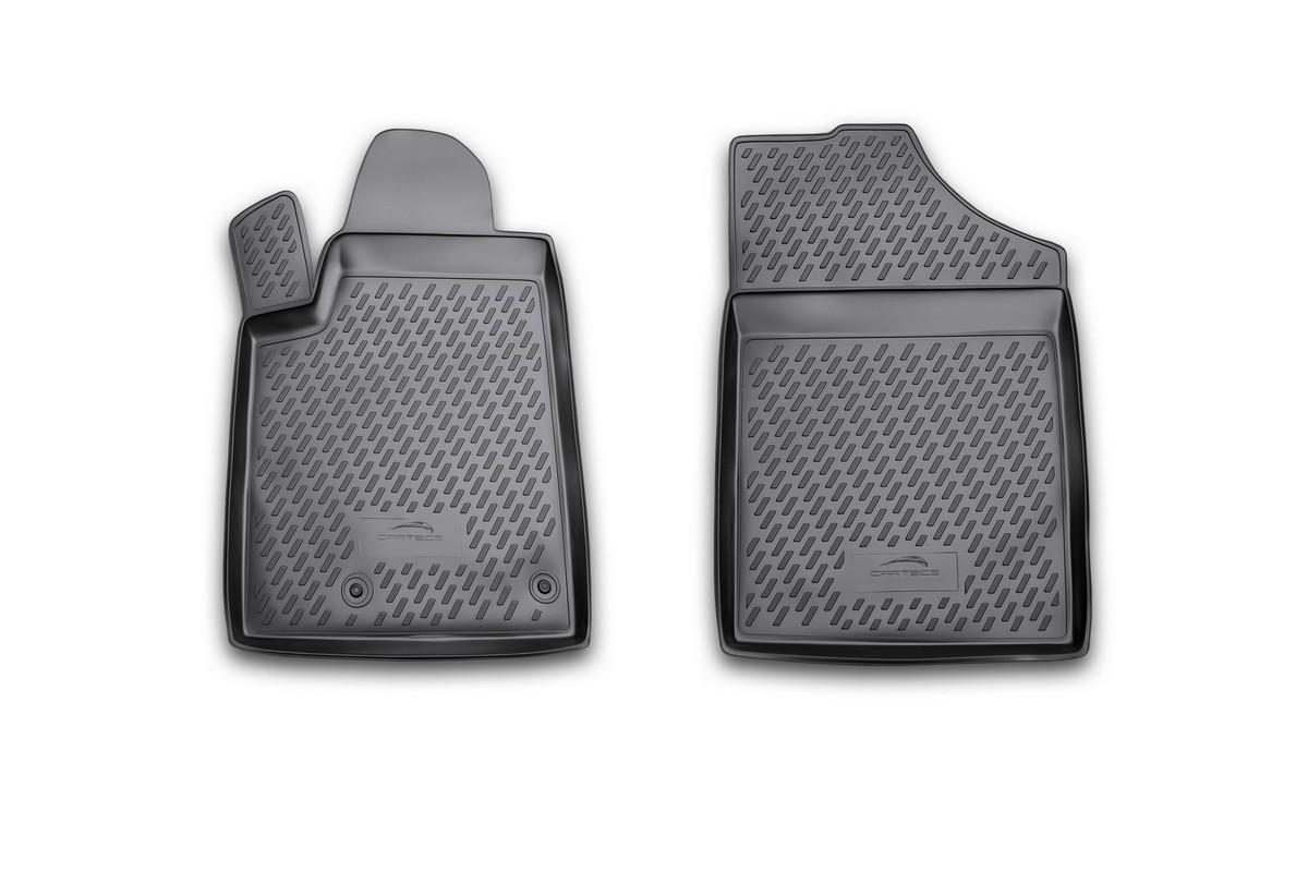Набор автомобильных ковриков Novline-Autofamily для Peugeot Partner 06/2008-, в салон, 2 штCARPGT00017Набор автомобильных ковриков Novline-Autofamily, изготовленный из полиуретана, состоит из 2 ковриков, которые учитывают все особенности каждой модели автомобиля и полностью повторяют контуры пола. Полиуретановые автомобильные коврики для салона произведены из высококачественного материала, который держит форму, прочный и не пачкает обувь. Коврики в салон не только улучшат внешний вид салона вашего автомобиля, но и надежно уберегут его от пыли, грязи и сырости, а значит, защитят кузов от коррозии. Полиуретановые коврики для автомобиля гладкие, приятные и не пропускают влагу. Ковры для автомобилей надежно крепятся на полу и не скользят, что очень важно во время движения. Чистятся коврики очень просто: как при помощи автомобильного пылесоса, так и различными моющими средствами. Набор подходит для Peugeot Partner с июня 2008 года выпуска.