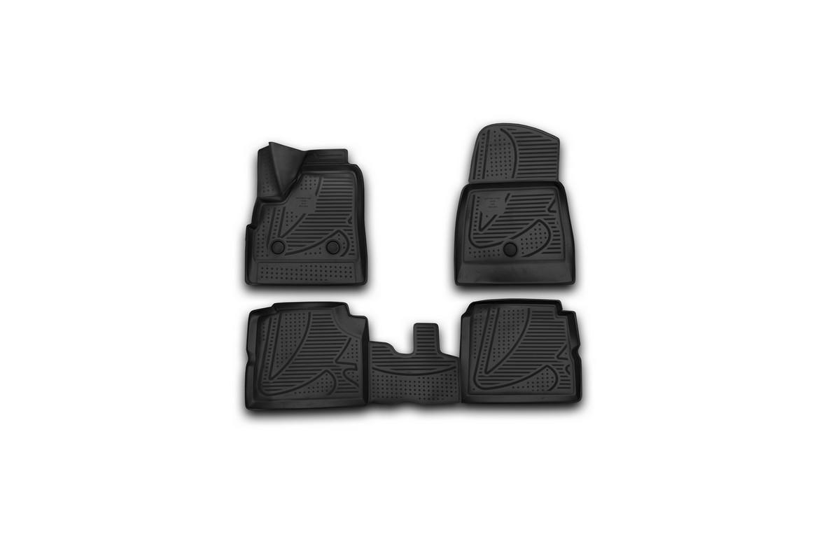 Набор автомобильных 3D-ковриков Novline-Autofamily для Lada 4x4 5D, 2009->, в салон, 4 штF420250E1Набор Novline-Autofamily состоит из 4 ковриков, изготовленных из полиуретана. Основная функция ковров - защита салона автомобиля от загрязнения и влаги. Это достигается за счет высоких бортов, перемычки на тоннель заднего ряда сидений, элементов формы и текстуры, свойств материала, а также запатентованной технологией 3D-перемычки в зоне отдыха ноги водителя, что обеспечивает дополнительную защиту, сохраняя салон автомобиля в первозданном виде. Материал, из которого сделаны коврики, обладает антискользящими свойствами. Для фиксации ковров в салоне автомобиля в комплекте с ними используются специальные крепежи. Форма передней части водительского ковра, уходящая под педаль акселератора, исключает нештатное заедание педалей. Набор подходит для Lada 4x4 5D с 2009 года выпуска.