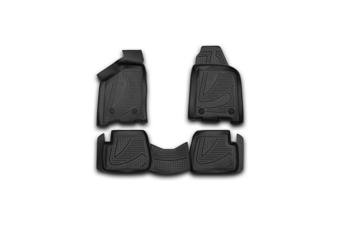 Набор автомобильных 3D-ковриков Novline-Autofamily для Lada Samara, 2004->, в салон, 4 штF900250E1Набор Novline-Autofamily состоит из 4 ковриков, изготовленных из полиуретана. Основная функция ковров - защита салона автомобиля от загрязнения и влаги. Это достигается за счет высоких бортов, перемычки на тоннель заднего ряда сидений, элементов формы и текстуры, свойств материала, а также запатентованной технологией 3D-перемычки в зоне отдыха ноги водителя, что обеспечивает дополнительную защиту, сохраняя салон автомобиля в первозданном виде. Материал, из которого сделаны коврики, обладает антискользящими свойствами. Для фиксации ковров в салоне автомобиля в комплекте с ними используются специальные крепежи. Форма передней части водительского ковра, уходящая под педаль акселератора, исключает нештатное заедание педалей. Набор подходит для Lada Samara с 2004 года выпуска.