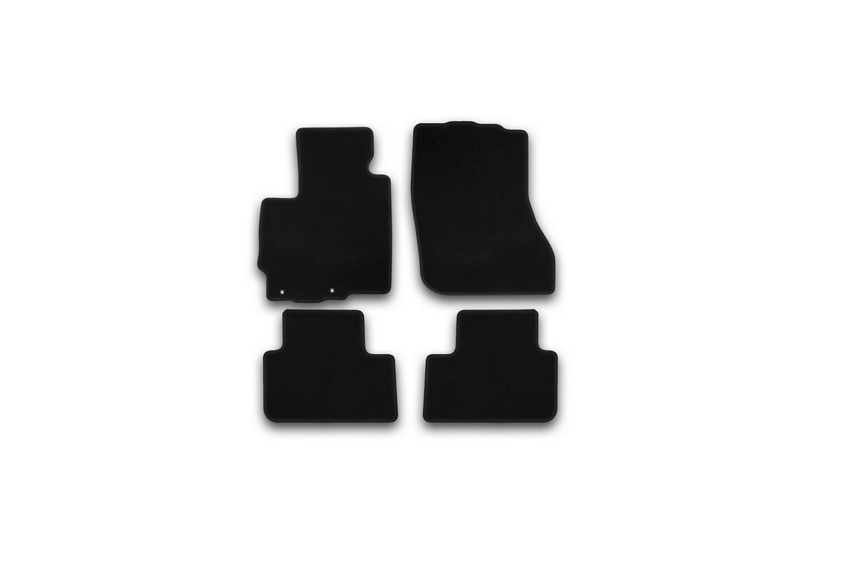 Набор автомобильных ковриков Klever для Mitsubishi ASX 2010-, кроссовер, в салон, 5 шт. KVR01352501200kKVR01352501200kНабор автомобильных ковриков Klever, изготовленный из текстиля, состоит из 5 ковриков, которые учитывают все особенности каждой модели автомобиля и полностью повторяют контуры пола. Текстильные автомобильные коврики для салона произведены из высококачественного материала, который держит форму, прочный и не пачкает обувь. Коврики в салон не только улучшат внешний вид салона вашего автомобиля, но и надежно уберегут его от пыли, грязи и сырости, а значит, защитят кузов от коррозии. Текстильные коврики для автомобиля мягкие и приятные, а их основа из вспененного полиуретана не пропускает влагу. Ковры для автомобилей надежно крепятся на полу и не скользят, что очень важно во время движения. Чистятся коврики очень просто: как при помощи автомобильного пылесоса, так и различными моющими средствами. Набор подходит для Mitsubishi ASX кроссовер с 2010 года выпуска.
