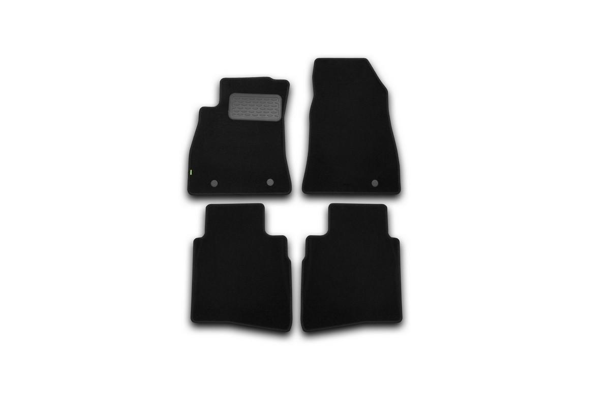 Набор автомобильных ковриков Klever для Nissan Sentra 2014-, седан, в салон, 4 шт. KVR02364101210khKVR02364101210khНабор автомобильных ковриков Klever, изготовленный из текстиля, состоит из 4 ковриков, которые учитывают все особенности каждой модели автомобиля и полностью повторяют контуры пола. Текстильные автомобильные коврики для салона произведены из высококачественного материала, который держит форму, прочный и не пачкает обувь. Коврики в салон не только улучшат внешний вид салона вашего автомобиля, но и надежно уберегут его от пыли, грязи и сырости, а значит, защитят кузов от коррозии. Текстильные коврики для автомобиля мягкие и приятные, а их основа из вспененного полиуретана не пропускает влагу. Ковры для автомобилей надежно крепятся на полу и не скользят, что очень важно во время движения. Чистятся коврики очень просто: как при помощи автомобильного пылесоса, так и различными моющими средствами. Набор подходит для Nissan Sentra седан с 2014 года выпуска.