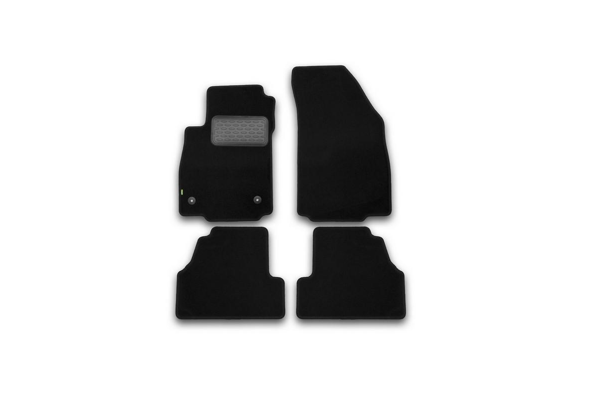 Набор автомобильных ковриков Klever для Opel Mokka 2012-, кроссовер, в салон, 4 шт. KVR02373001210khKVR02373001210khНабор автомобильных ковриков Klever, изготовленный из текстиля, состоит из 4 ковриков, которые учитывают все особенности каждой модели автомобиля и полностью повторяют контуры пола. Текстильные автомобильные коврики для салона произведены из высококачественного материала, который держит форму, прочный и не пачкает обувь. Коврики в салон не только улучшат внешний вид салона вашего автомобиля, но и надежно уберегут его от пыли, грязи и сырости, а значит, защитят кузов от коррозии. Текстильные коврики для автомобиля мягкие и приятные, а их основа из вспененного полиуретана не пропускает влагу. Ковры для автомобилей надежно крепятся на полу и не скользят, что очень важно во время движения. Чистятся коврики очень просто: как при помощи автомобильного пылесоса, так и различными моющими средствами. Набор подходит для Opel Mokka кроссовер с 2012 года выпуска.