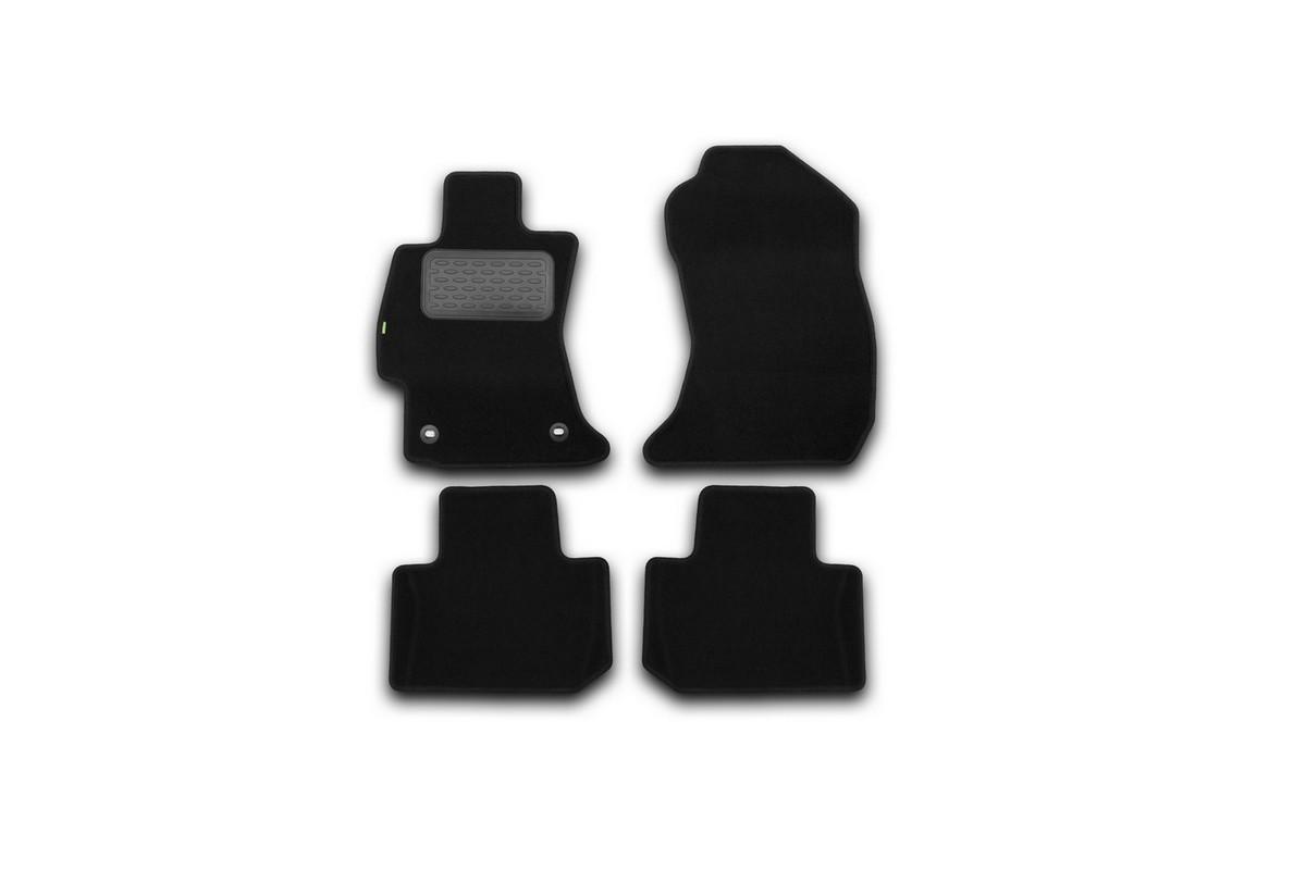 Набор автомобильных ковриков Klever для Subaru Forester 2013-, кроссовер, в салон, 4 шт. KVR02461901210khKVR02461901210khНабор автомобильных ковриков Klever, изготовленный из текстиля, состоит из 4 ковриков, которые учитывают все особенности каждой модели автомобиля и полностью повторяют контуры пола. Текстильные автомобильные коврики для салона произведены из высококачественного материала, который держит форму, прочный и не пачкает обувь. Коврики в салон не только улучшат внешний вид салона вашего автомобиля, но и надежно уберегут его от пыли, грязи и сырости, а значит, защитят кузов от коррозии. Текстильные коврики для автомобиля мягкие и приятные, а их основа из вспененного полиуретана не пропускает влагу. Ковры для автомобилей надежно крепятся на полу и не скользят, что очень важно во время движения. Чистятся коврики очень просто: как при помощи автомобильного пылесоса, так и различными моющими средствами. Набор подходит для Subaru Forester кроссовер с 2013 года выпуска.