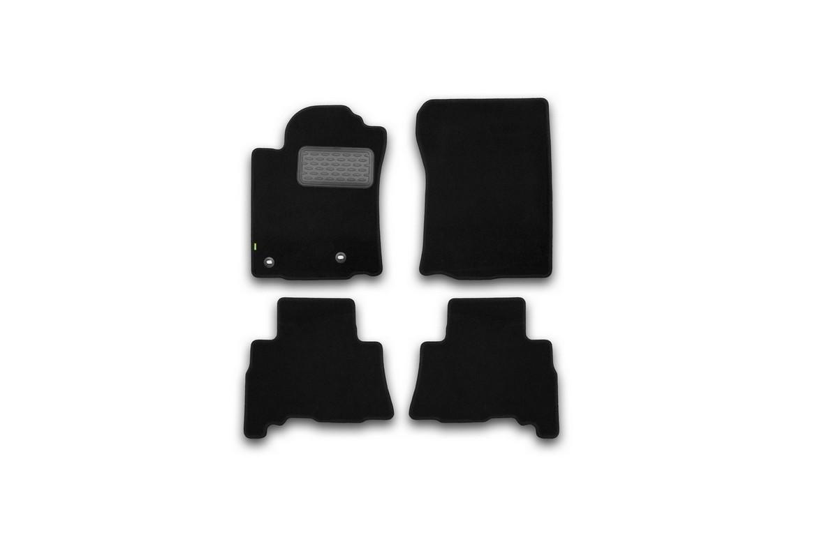 Набор автомобильных ковриков Klever для Toyota Land Cruiser 150 2013-2015, 2015-, 5 мест, внедорожник, в салон, 4 шт. KVR02482901210khKVR02482901210khНабор автомобильных ковриков Klever, изготовленный из текстиля, состоит из 4 ковриков, которые учитывают все особенности каждой модели автомобиля и полностью повторяют контуры пола. Текстильные автомобильные коврики для салона произведены из высококачественного материала, который держит форму, прочный и не пачкает обувь. Коврики в салон не только улучшат внешний вид салона вашего автомобиля, но и надежно уберегут его от пыли, грязи и сырости, а значит, защитят кузов от коррозии. Текстильные коврики для автомобиля мягкие и приятные, а их основа из вспененного полиуретана не пропускает влагу. Ковры для автомобилей надежно крепятся на полу и не скользят, что очень важно во время движения. Чистятся коврики очень просто: как при помощи автомобильного пылесоса, так и различными моющими средствами. Набор подходит для Toyota Land Cruiser 150, 5 мест, внедорожник 2013-2015, 2015 и позднее годов выпуска.