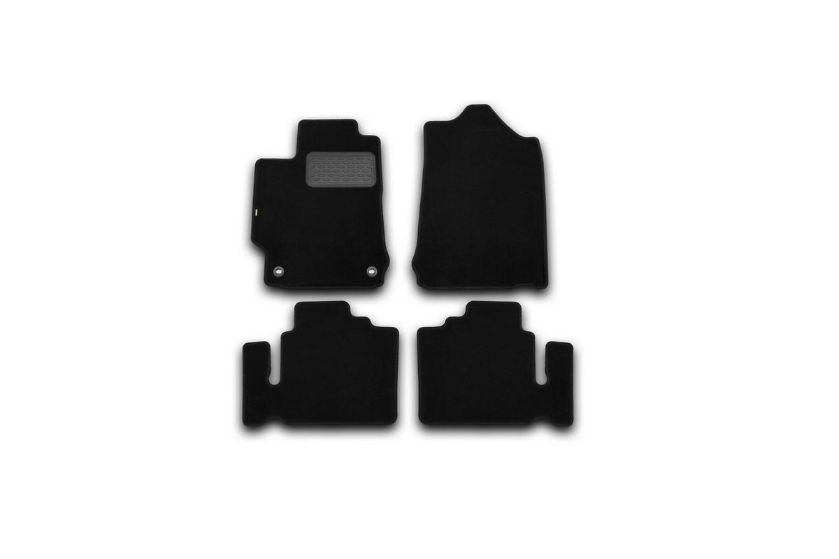 Набор автомобильных ковриков Klever для Toyota Camry 2011-, седан, в салон, 4 шт. KVR02485601210khKVR02485601210khНабор автомобильных ковриков Klever, изготовленный из текстиля, состоит из 4 ковриков, которые учитывают все особенности каждой модели автомобиля и полностью повторяют контуры пола. Текстильные автомобильные коврики для салона произведены из высококачественного материала, который держит форму, прочный и не пачкает обувь. Коврики в салон не только улучшат внешний вид салона вашего автомобиля, но и надежно уберегут его от пыли, грязи и сырости, а значит, защитят кузов от коррозии. Текстильные коврики для автомобиля мягкие и приятные, а их основа из вспененного полиуретана не пропускает влагу. Ковры для автомобилей надежно крепятся на полу и не скользят, что очень важно во время движения. Чистятся коврики очень просто: как при помощи автомобильного пылесоса, так и различными моющими средствами. Набор подходит для Toyota Camry седан с 2011 года выпуска.