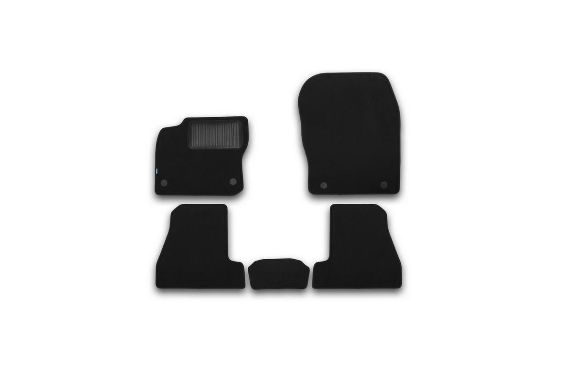 Набор автомобильных ковриков Klever для Ford Focus III 2015-, седан, в салон, 5 штKVR03166822110khНабор автомобильных ковриков Klever, изготовленный из текстиля, состоит из 5 ковриков, которые учитывают все особенности каждой модели автомобиля и полностью повторяют контуры пола. Текстильные автомобильные коврики для салона произведены из высококачественного материала, который держит форму, прочный и не пачкает обувь. Коврики в салон не только улучшат внешний вид салона вашего автомобиля, но и надежно уберегут его от пыли, грязи и сырости, а значит, защитят кузов от коррозии. Текстильные коврики для автомобиля мягкие и приятные, а их основа из вспененного полиуретана не пропускает влагу. Ковры для автомобилей надежно крепятся на полу и не скользят, что очень важно во время движения. Чистятся коврики очень просто: как при помощи автомобильного пылесоса, так и различными моющими средствами. Набор подходит для Ford Focus III седан c 2015 года выпуска.