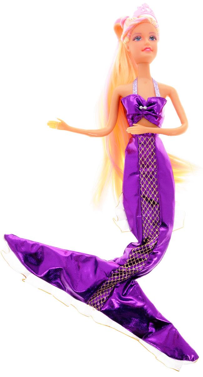 Defa Кукла Русалочка цвет одежды фиолетовый