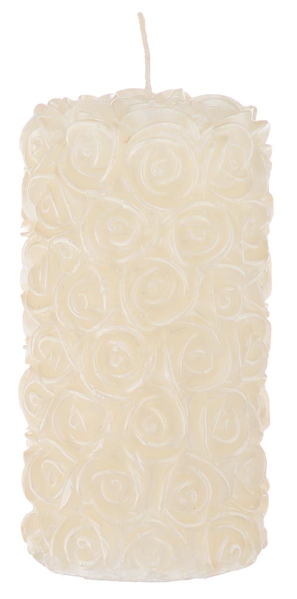 Свеча декоративная Свадебная, цвет: бежевый, 6 х 6 х 11,5 см69.065Декоративная свеча Свадебная изготовлена из парафина в форме столбика и украшена красивым рельефным узором. Свеча будет отличным украшением кондитерских изделий, интерьера и подарком на свадьбу или торжество. Декоративная свеча Свадебная принесет в ваш дом волшебство и ощущение праздника. Создайте в своем доме атмосферу веселья и радости, и тогда самый обычный день с легкостью превратится в торжество. Время горения: 10 ч.