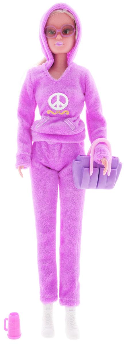 Simba Кукла Штеффи Беверли Хиллз цвет сиреневый5730450_сиреневыйКукла Simba Штеффи Беверли Хиллз надолго займет внимание вашей малышки и подарит ей множество счастливых мгновений. Кукла изготовлена из пластика, ее голова, ручки и ножки подвижны, что позволяет придавать ей разнообразные позы. В комплект входит чашка кофе для куклы. Куколка одета в удобный сиреневый спортивный костюм. Стильный образ дополняют солнцезащитные очки и небольшая сумка. Чудесные длинные волосы куклы так весело расчесывать и создавать из них всевозможные прически, косички и хвостики. Благодаря играм с куклой, ваша малышка сможет развить фантазию и любознательность, овладеть навыками общения и научиться ответственности, а дополнительные аксессуары сделают игру еще увлекательнее. Порадуйте свою принцессу таким прекрасным подарком!