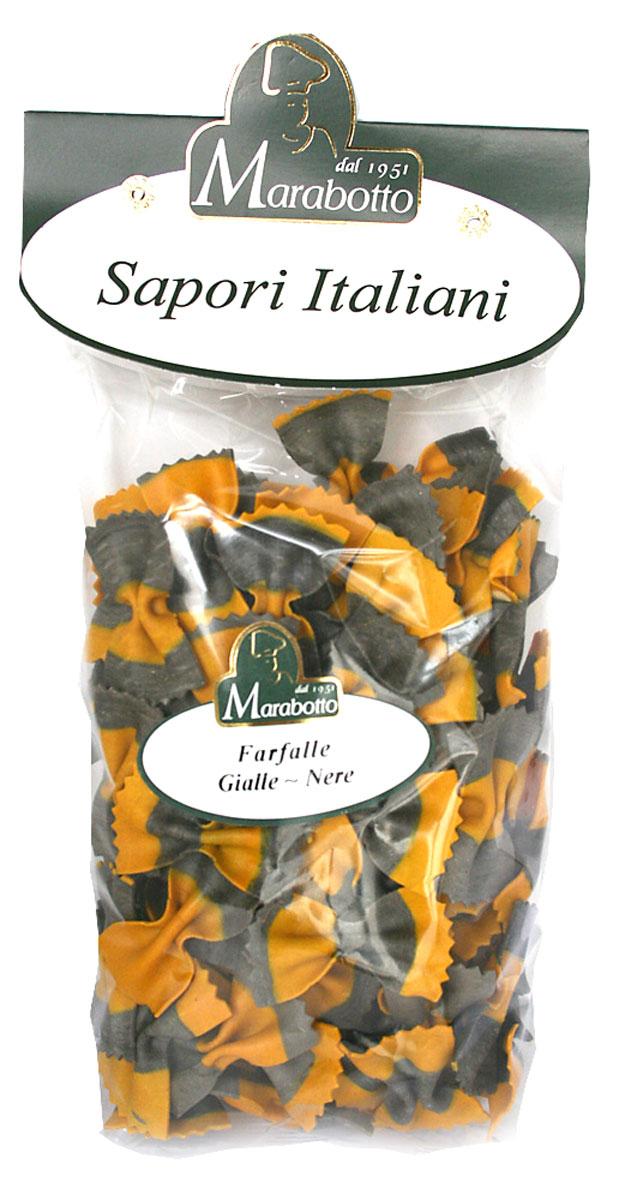 Marabotto Бабочки черно-желтые макароны, 250 г