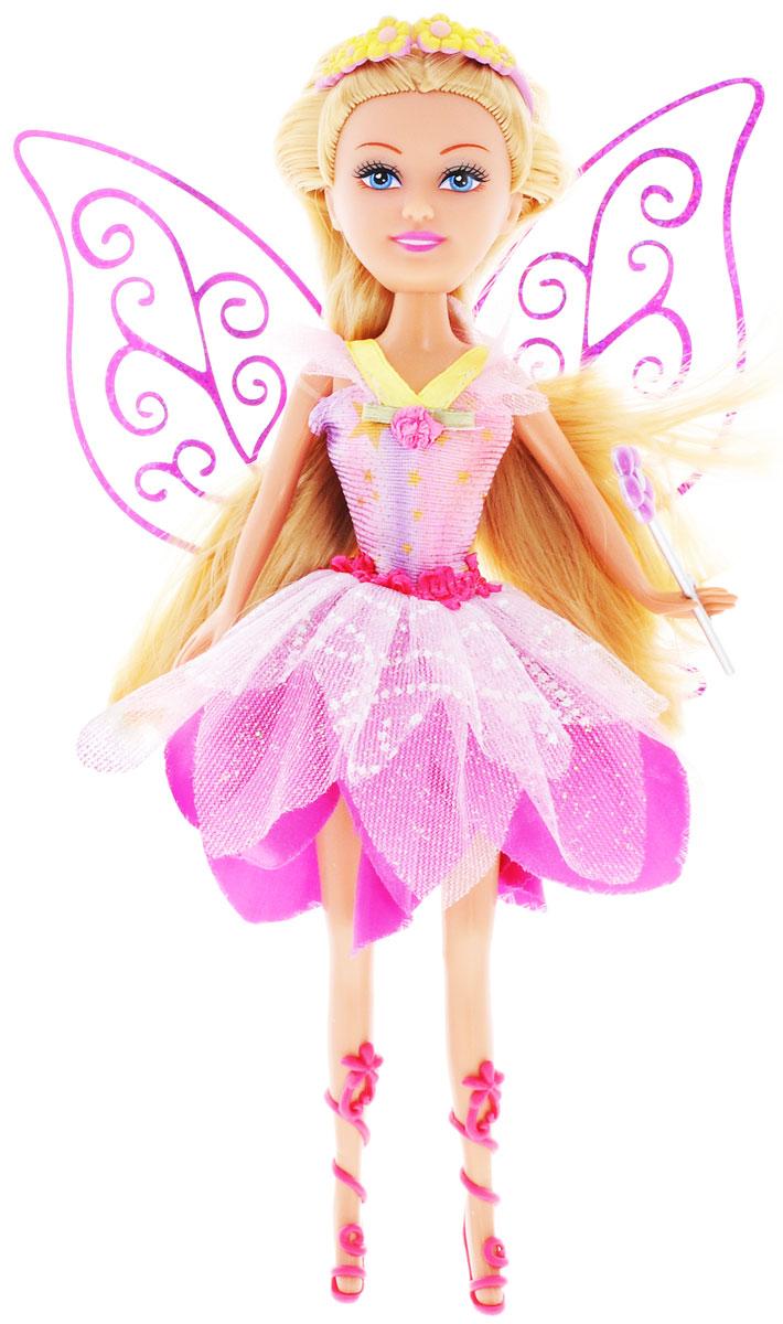 ABtoys Кукла Brilliance Fair Цветочная фея цвет платья розовый2400063_розовыйВеликолепная кукла Цветочная фея обязательно порадует вашу малышку и доставит ей много удовольствия от часов, посвященных игре с ней. Куколка с длинными темными волосами и зелеными глазами одета в великолепный наряд: яркое платье с подолом в виде лепестков цветка. Сзади у куклы-феи имеются прозрачные крылышки. Вместе с куклой в наборе предлагается оригинальная диадема с цветочками и фиолетовые босоножки. У феи также имеется волшебная палочка. Куколка фея станет настоящей подружкой для своей юной обладательницы! Порадуйте свою малышку таким великолепным подарком!
