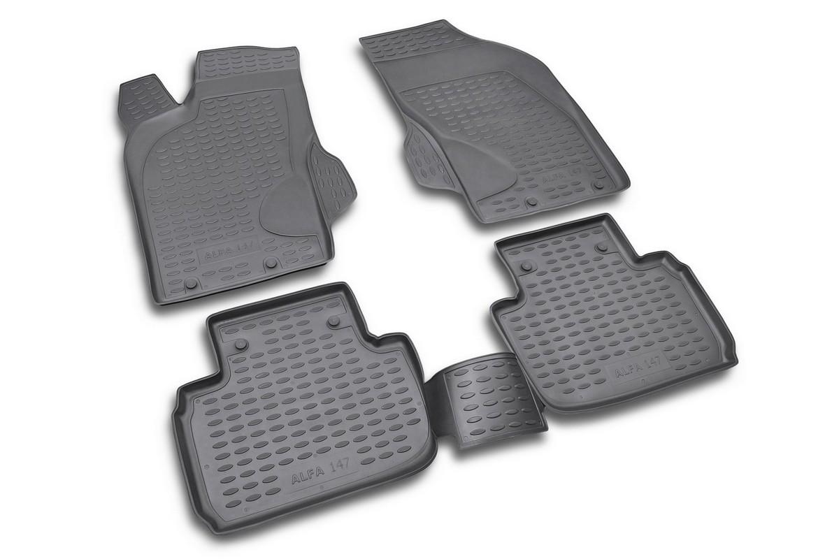 Набор автомобильных ковриков Novline-Autofamily для Alfa Romeo 147 12/2000-, в салон, 4 штNLC.02.02.210Набор автомобильных ковриков Novline-Autofamily, изготовленный из полиуретана, состоит из 4 ковриков, которые учитывают все особенности каждой модели автомобиля и полностью повторяют контуры пола. Полиуретановые автомобильные коврики для салона произведены из высококачественного материала, который держит форму, прочный и не пачкает обувь. Коврики в салон не только улучшат внешний вид салона вашего автомобиля, но и надежно уберегут его от пыли, грязи и сырости, а значит, защитят кузов от коррозии. Полиуретановые коврики для автомобиля гладкие, приятные и не пропускают влагу. Ковры для автомобилей надежно крепятся на полу и не скользят, что очень важно во время движения. Чистятся коврики очень просто: как при помощи автомобильного пылесоса, так и различными моющими средствами. Набор подходит для Alfa Romeo 147 с декабря 2000 года выпуска.
