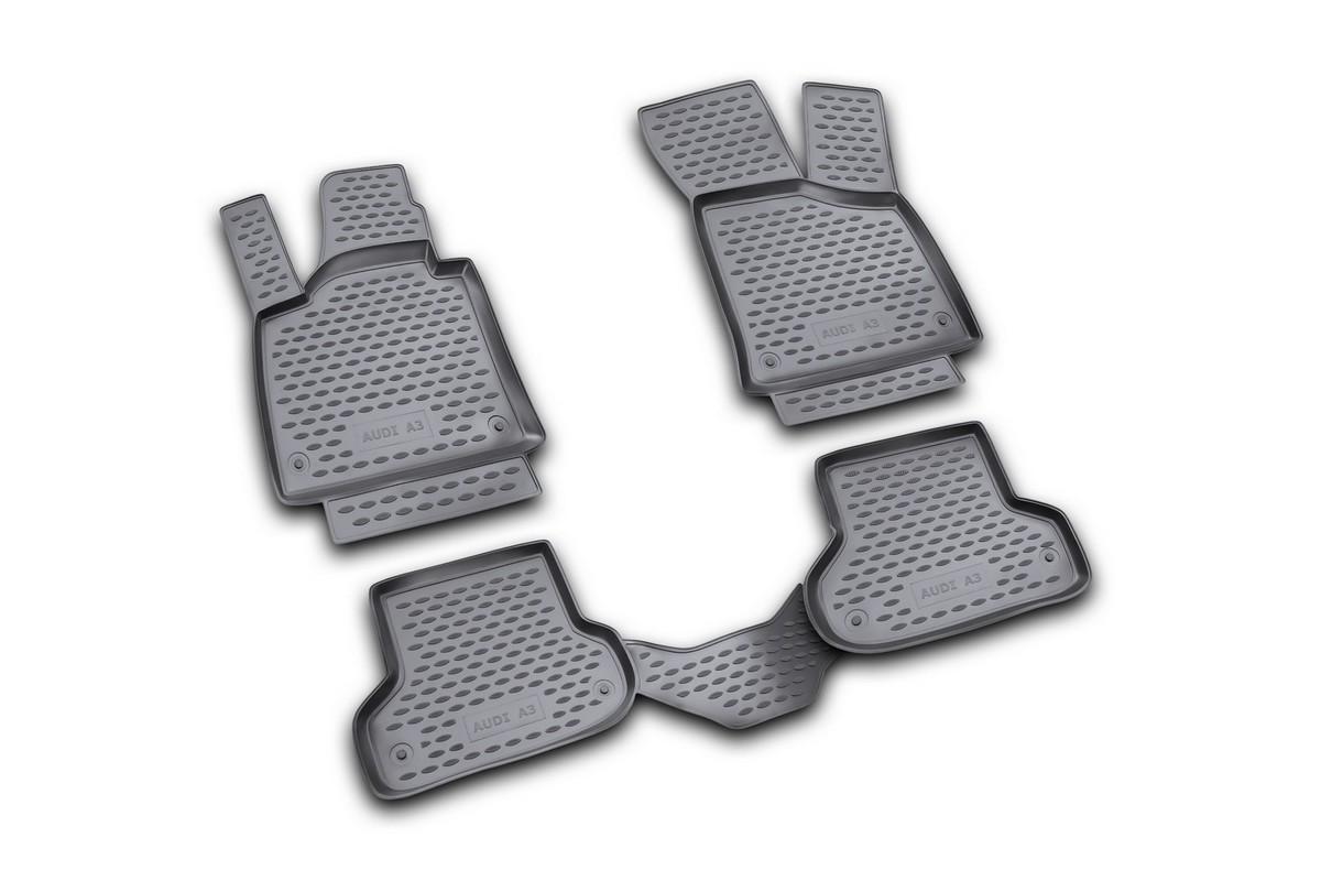 Набор автомобильных ковриков Novline-Autofamily для Audi A-3 3D 2007-, в салон, 4 штNLC.04.10.210Набор автомобильных ковриков Novline-Autofamily, изготовленный из полиуретана, состоит из 4 ковриков, которые учитывают все особенности каждой модели автомобиля и полностью повторяют контуры пола. Полиуретановые автомобильные коврики для салона произведены из высококачественного материала, который держит форму, прочный и не пачкает обувь. Коврики в салон не только улучшат внешний вид салона вашего автомобиля, но и надежно уберегут его от пыли, грязи и сырости, а значит, защитят кузов от коррозии. Полиуретановые коврики для автомобиля гладкие, приятные и не пропускают влагу. Ковры для автомобилей надежно крепятся на полу и не скользят, что очень важно во время движения. Чистятся коврики очень просто: как при помощи автомобильного пылесоса, так и различными моющими средствами. Набор подходит для Audi A-3 с 2007 года выпуска.