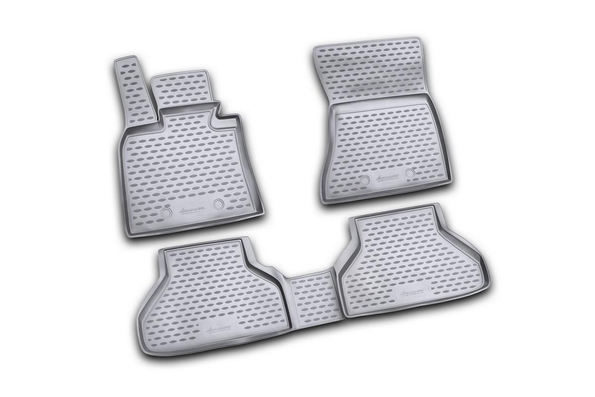 Набор автомобильных ковриков Novline-Autofamily для BMW X6 2009-, в салон, цвет: черный, 4 штNLC.05.18.210kНабор автомобильных ковриков Novline-Autofamily, изготовленный из полиуретана, состоит из 4 ковриков, которые учитывают все особенности каждой модели автомобиля и полностью повторяют контуры пола. Полиуретановые автомобильные коврики для салона произведены из высококачественного материала, который держит форму, прочный и не пачкает обувь. Коврики в салон не только улучшат внешний вид салона вашего автомобиля, но и надежно уберегут его от пыли, грязи и сырости, а значит, защитят кузов от коррозии. Полиуретановые коврики для автомобиля гладкие, приятные и не пропускают влагу. Ковры для автомобилей надежно крепятся на полу и не скользят, что очень важно во время движения. Чистятся коврики очень просто: как при помощи автомобильного пылесоса, так и различными моющими средствами. Набор подходит для BMW X6 с 2009 года выпуска.