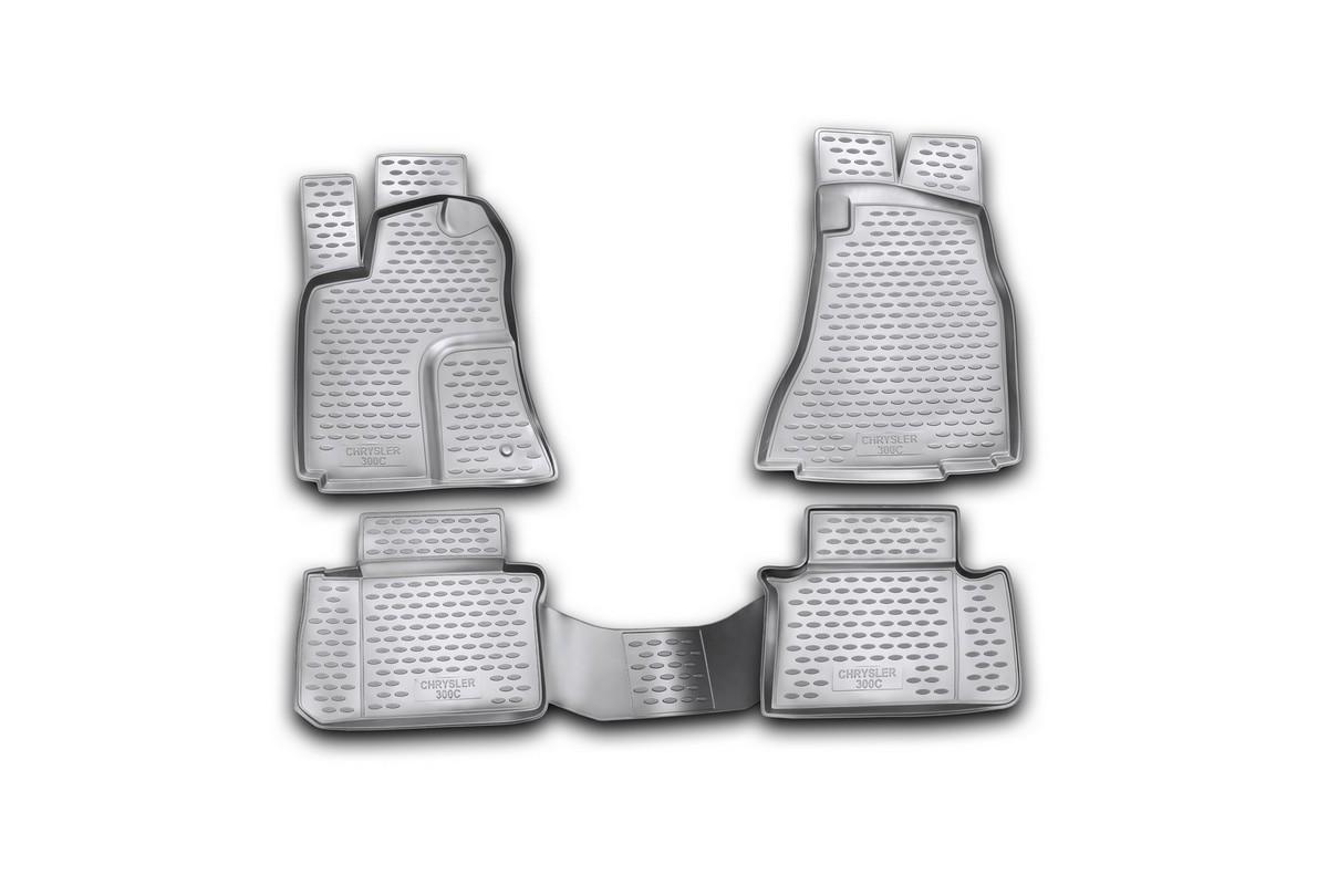 Набор автомобильных ковриков Novline-Autofamily для Chrysler 300C 2004-2012, в салон, цвет: черный, оранжевый, 4 штNLC.09.03.210Набор автомобильных ковриков Novline-Autofamily, изготовленный из полиуретана, состоит из 4 ковриков, которые учитывают все особенности каждой модели автомобиля и полностью повторяют контуры пола. Полиуретановые автомобильные коврики для салона произведены из высококачественного материала, который держит форму, прочный и не пачкает обувь. Коврики в салон не только улучшат внешний вид салона вашего автомобиля, но и надежно уберегут его от пыли, грязи и сырости, а значит, защитят кузов от коррозии. Полиуретановые коврики для автомобиля гладкие, приятные и не пропускают влагу. Ковры для автомобилей надежно крепятся на полу и не скользят, что очень важно во время движения. Чистятся коврики очень просто: как при помощи автомобильного пылесоса, так и различными моющими средствами. Набор подходит для Chrysler 300C 2004-2012 годов выпуска.